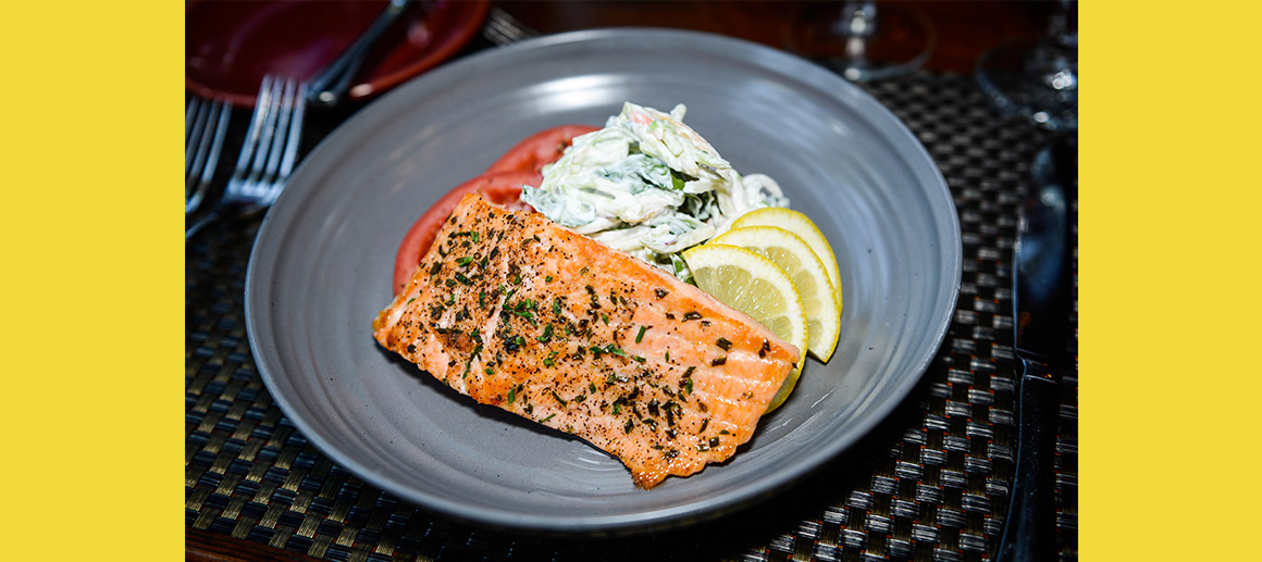 What's Cookin' at Grand View Lodge: Pan-seared Salmon with Apple Slaw