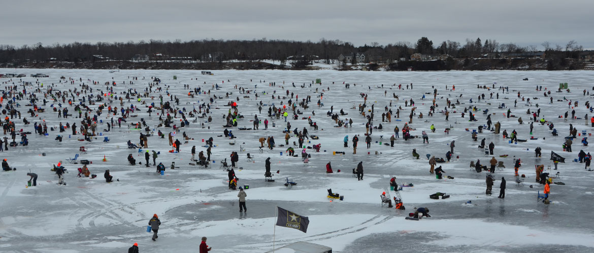 Convenient Lodging Ice Fishing Extravaganza