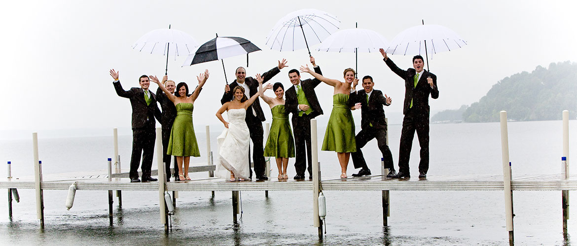 Wedding Party on the Dock